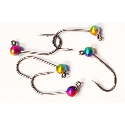 Tungsten Jig Hook Gr. 6 - 019 MB Rainbow metallic