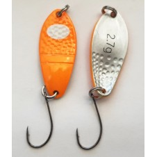 Trout Spoon XVII - 2,7g - fluo orange-weiss/silber matt