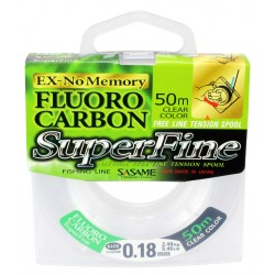 Sasame Fluoro Carbon SuperFine 50m 0,18mm