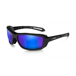 WAVE Polarized Blue Mirror Gloss Black Frame
